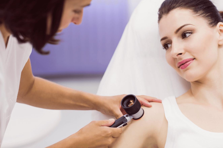 skin examining